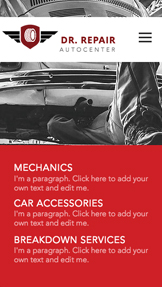 Automotive & Cars website templates – Mechanic