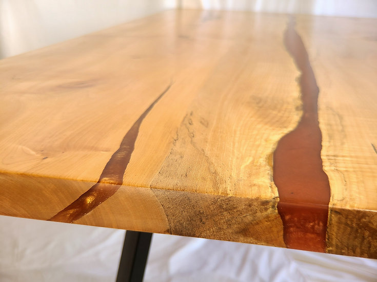 Live Edge Pecan Wood Dining Table
