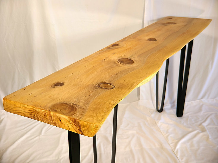 Live Edge Cotonwood Sofa Table