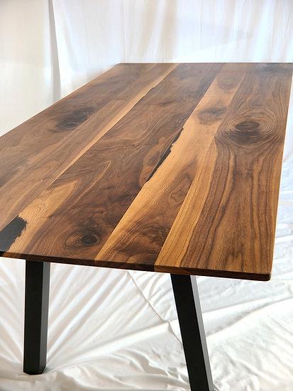 Industrial Walnut Farmhouse Table