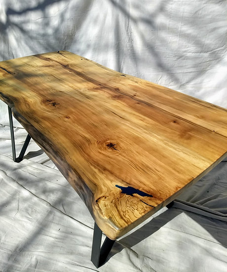 SOLD - Live edge Liquid Amber Dining Table