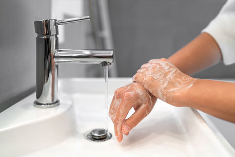 Hand washing lather soap rubbing wrists