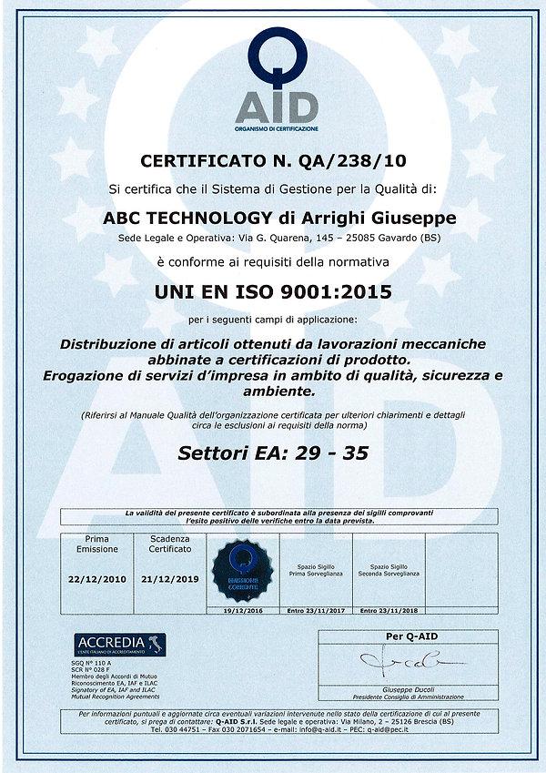 2016-12-19 - Certificato QA 238 10 compl