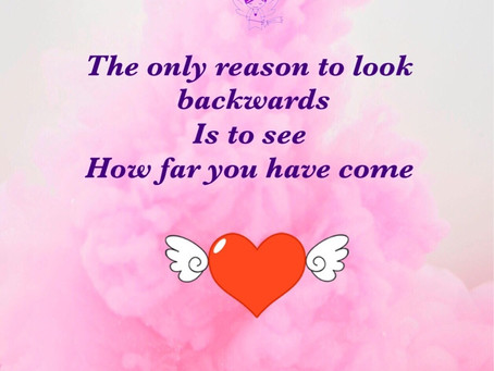 The only reason to look backwards.....