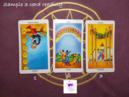 3 Card Reading - Flexible - email only