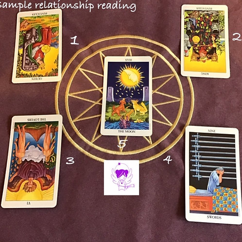 5 Card Relationship Reading - EMAIL  only