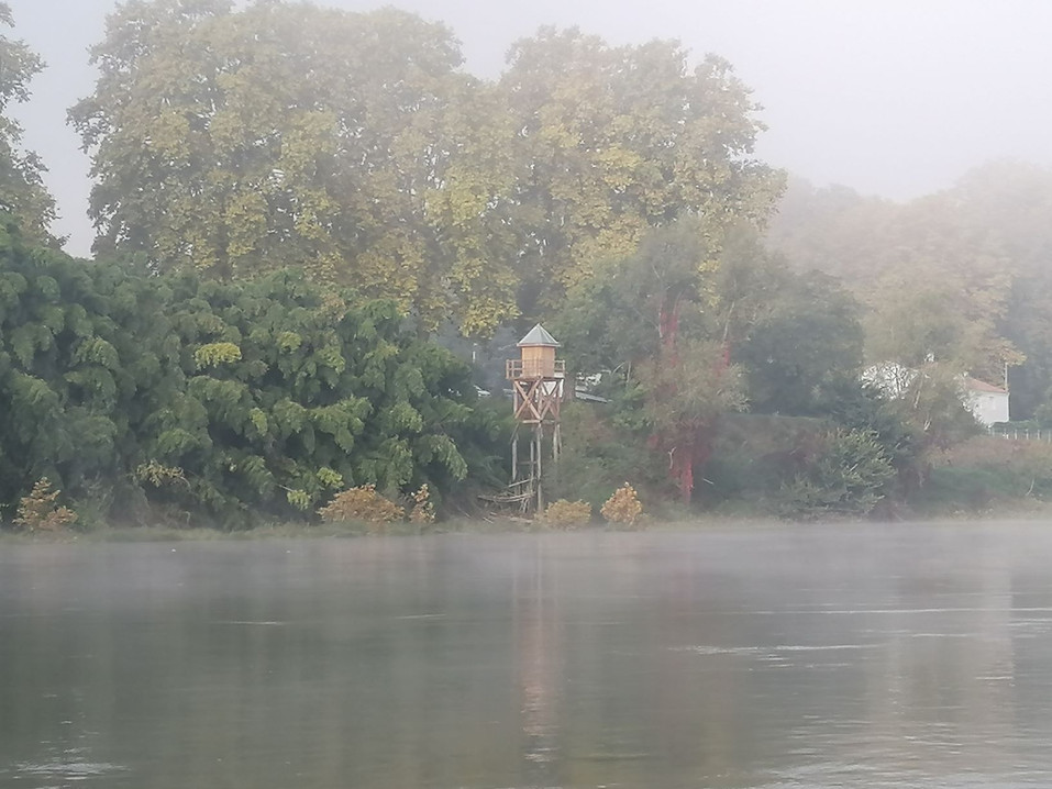 Limnigraphe dans le brouillard