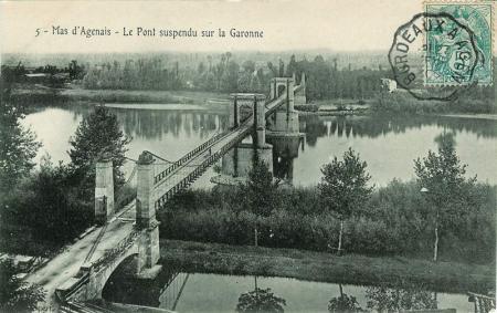 Le pont suspendu du Mas d'Agenais