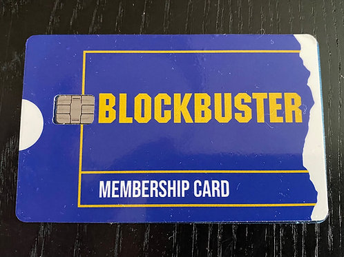 Blockbuster Video Credit Card Skin Sticker