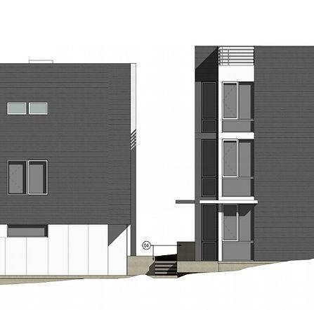 Modern twnhomes house greencity dvelopment 3D drawing