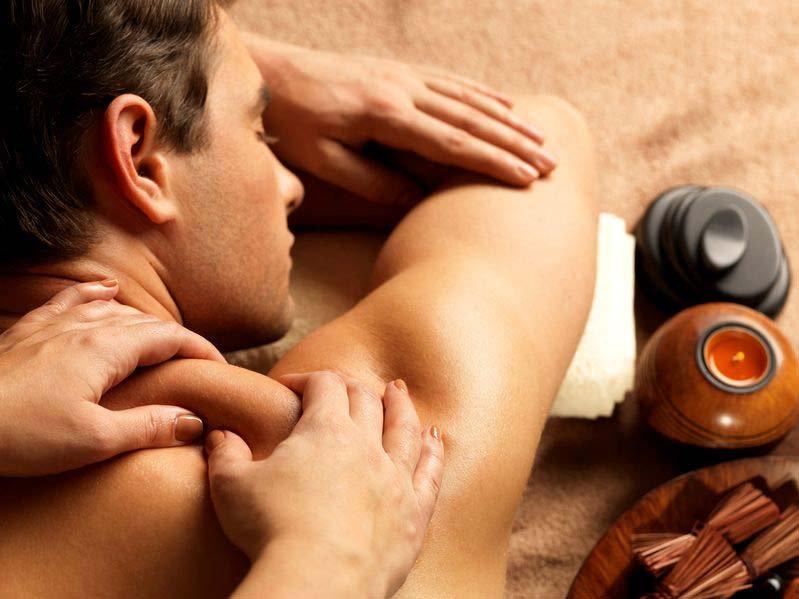 Surfer back massage
