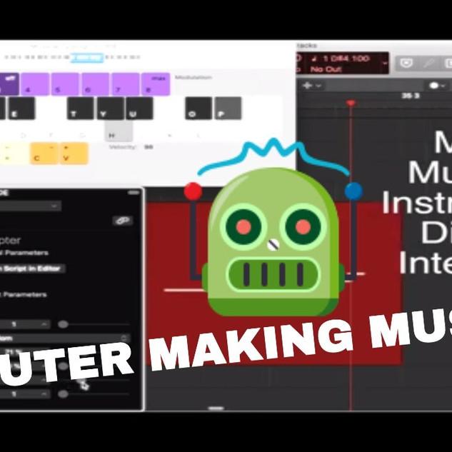MIKALBURR (Michael Burrage II) - A Computer Making Music??? Generative MIDI V1