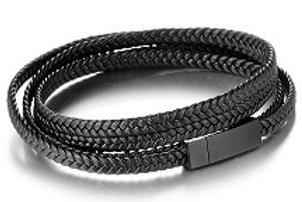 Leather Bracelet (Black)