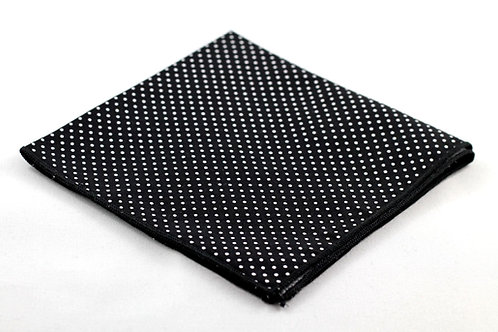 Pocket Square - Black/White Polka Dots