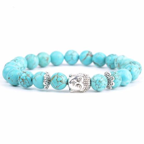 Turquoises Natural Stone Buddha Bracelet