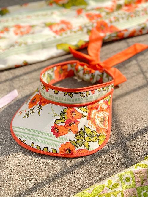 """Endless Summer"" Visor -MW Orange Bouquet"