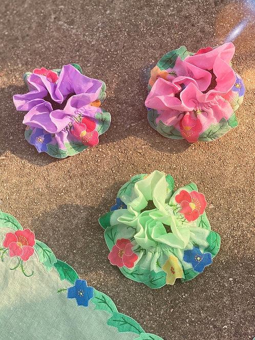 The Blossom Floral Applique Scrunchie