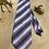 Thumbnail: Glossy Stripe Vintage Necktie Made Into A Halo Headband