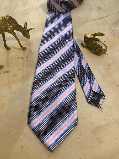 Glossy Stripe Vintage Necktie Made Into A Halo Headband