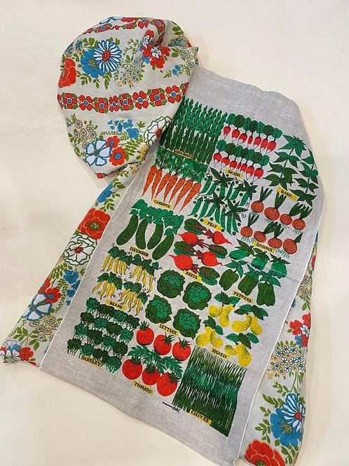 Veggie Garden A-Line Short Dress