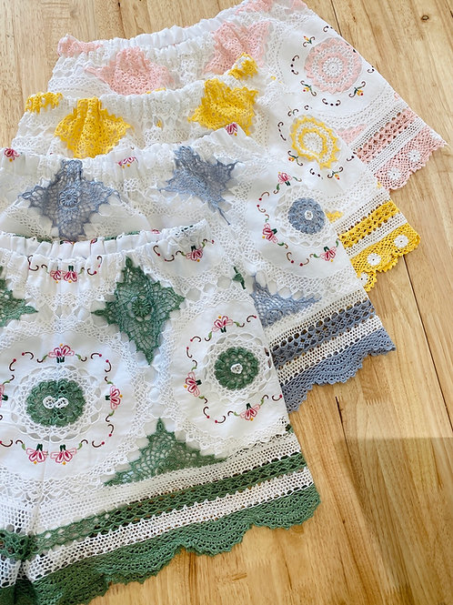 Ready Made (size M) Vintage Crochet Shorts