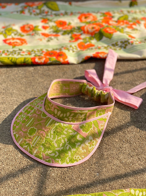 """Endless Summer"" Visor - 60s Lime/Pink"