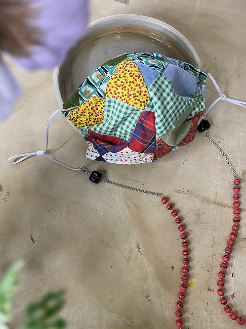 Hand Quilted Patchwork Mask