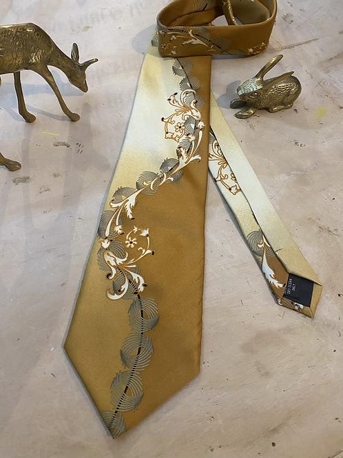 Vintage Venetto Necktie Made Into A Halo Headband