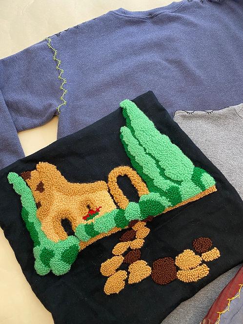 Design Your Own Punch Needle Sweatshirt - Cottage Pattern
