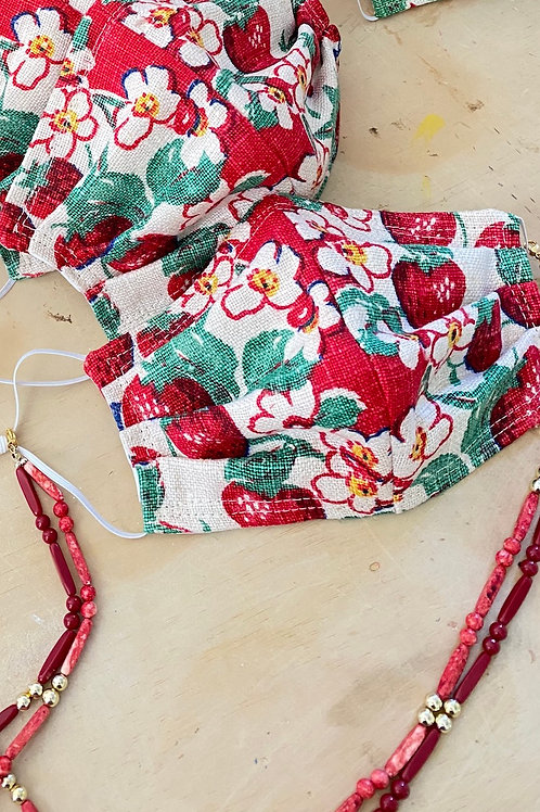 MADE TO ORDER: Strawberry Print Mask