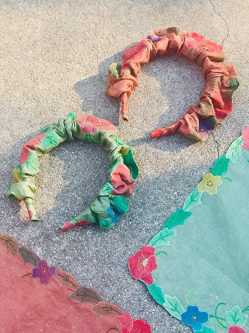 """Halo"" Floral Appliqué Headband - Neutral Assortment"