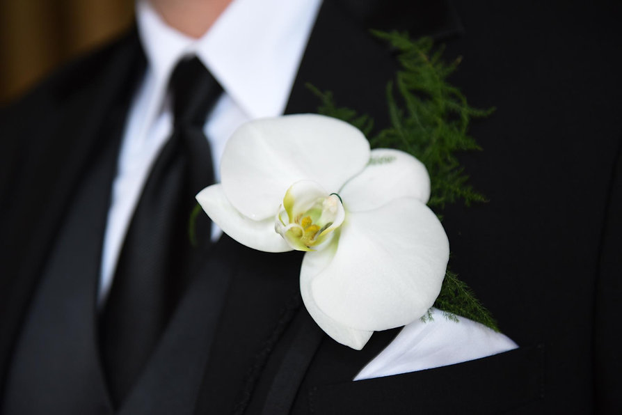 Wedding boutonnieres created with flair