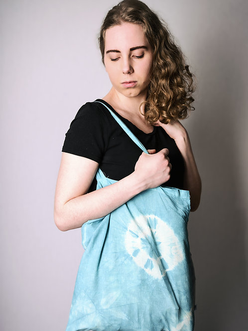 Fabric bag blue-green