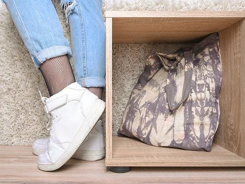 Fabric bag beige brown