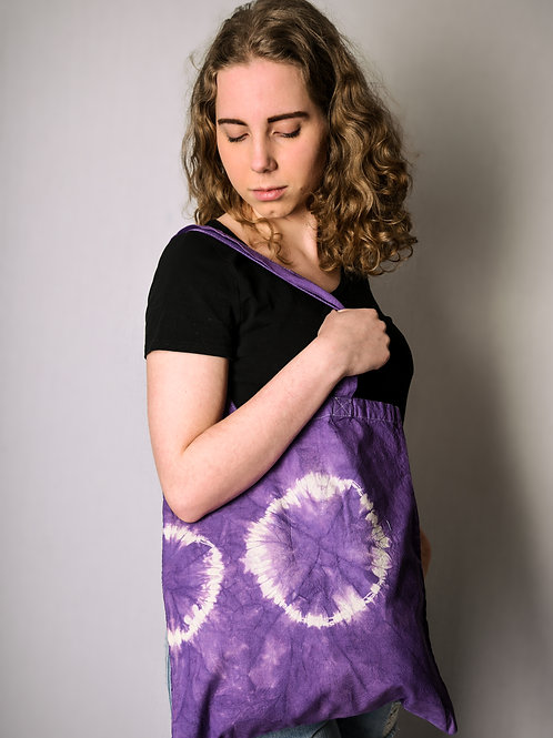 Fabric bag purple