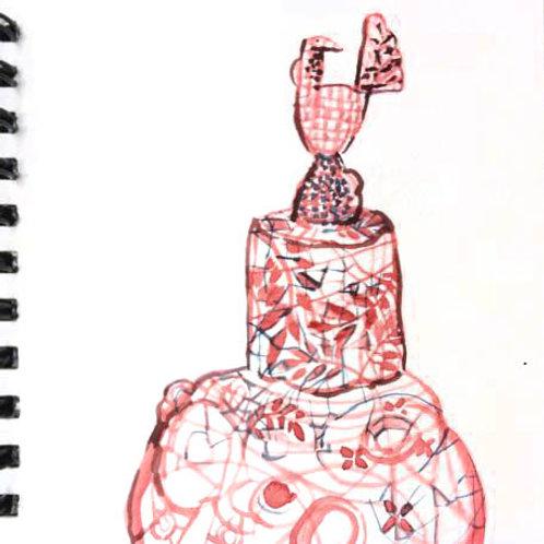 Sketchbook: study in red 1