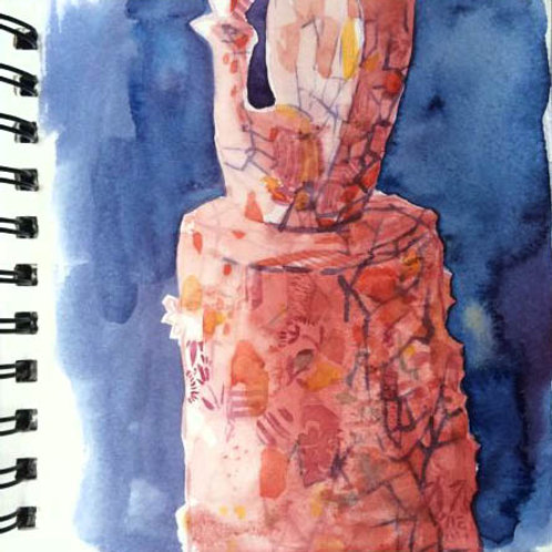 Sketchbook: study in red 3