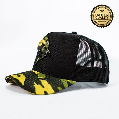 a6965248a3337 Boné Vida de Pescador Premium Militar Black Green