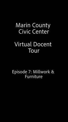 Frank Lloyd Wright Virtual Docent Tour - Episode 7: Millwork & Furniture