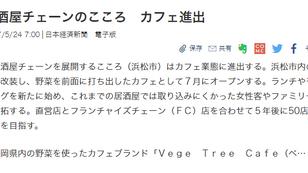 『日本経済新聞』webにて「Vege Tree Cafe」について取り上げていただきました