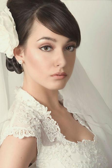 Contemporary bridal makeup artist London