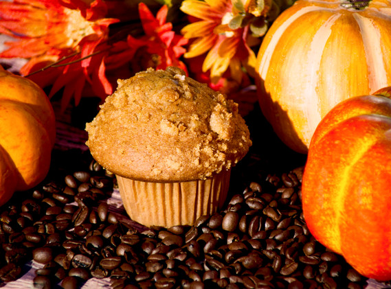 Fall Breakfast with Coffee Beans