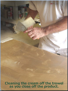 Closing venetian plaster