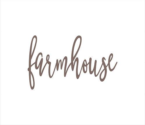 Farmhouse Metal Word Sign