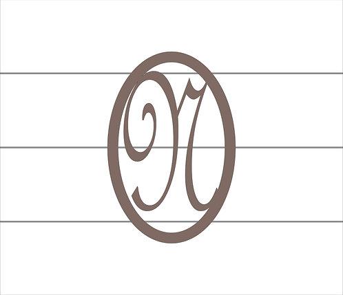 N Oval Monogram