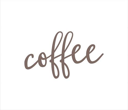 Coffee Metal Word Sign