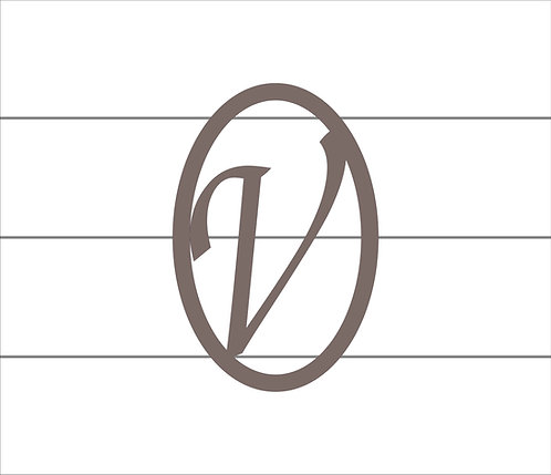 V Oval Monogram