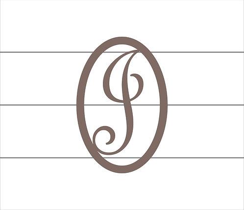 J Oval Monogram