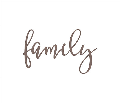 Family Metal Word Sign
