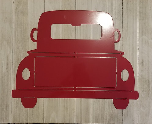 Red Truck on a board